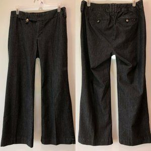 Seven7 Womens Size 14 Black Boot Cut Flared Jeans